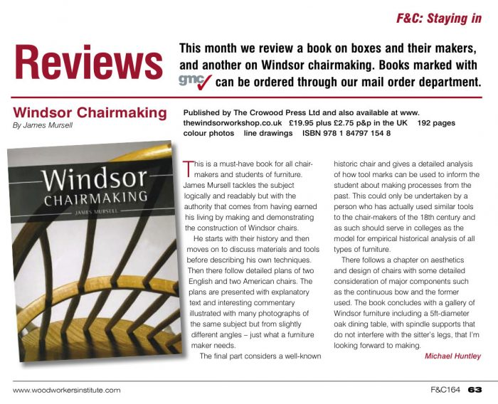 Windsor Chairmaking Book Review